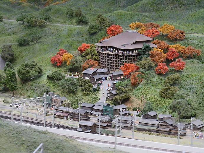 ジオラマで再現された清水寺