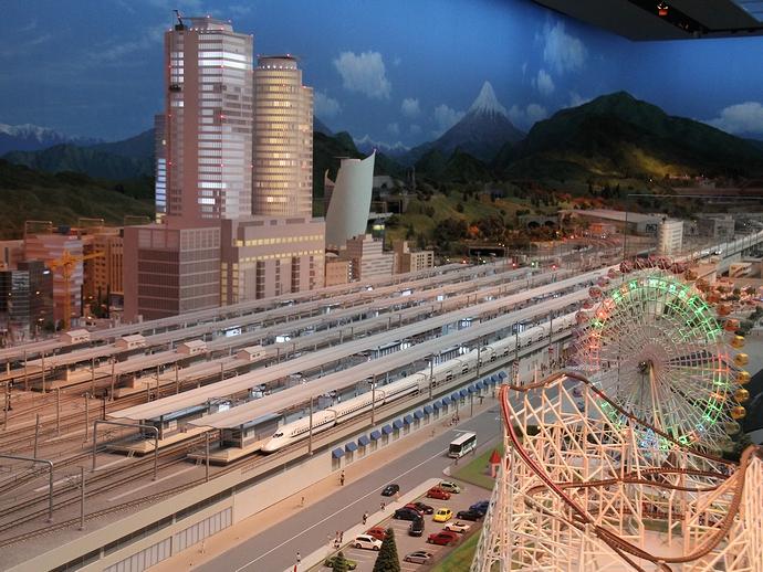 リニア・鉄道館のジオラマ 名古屋の夜景