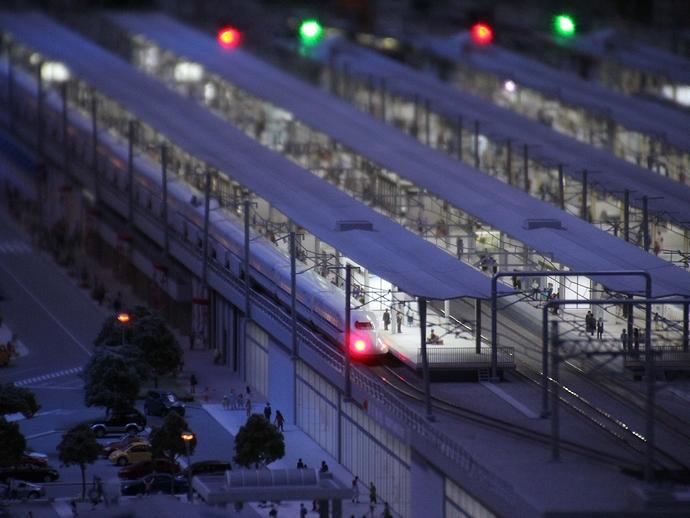 夜の名古屋駅(リニア・鉄道館のジオラマ)