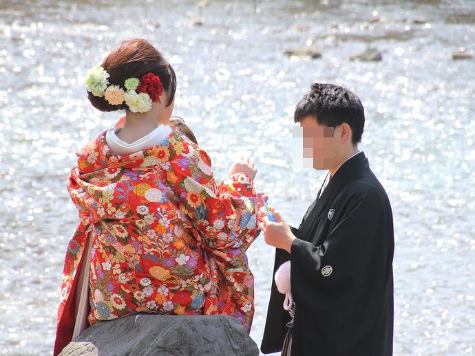 浅野川の輝きと夫婦