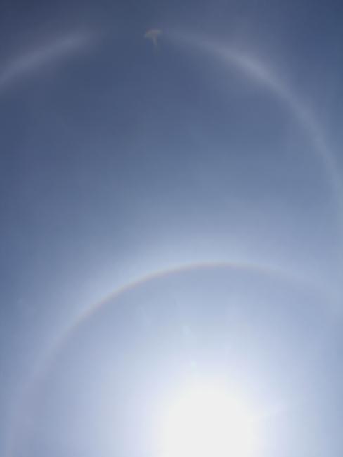 レアな大気光学現象 金沢市に出現した幻日環
