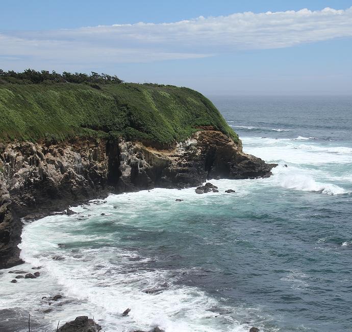 ウミウ展望台から見た城ヶ島の絶景