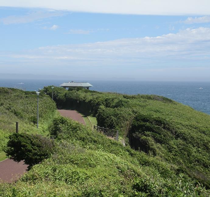 城ヶ島公園第1展望台からの景色(東京湾・房総半島方面)