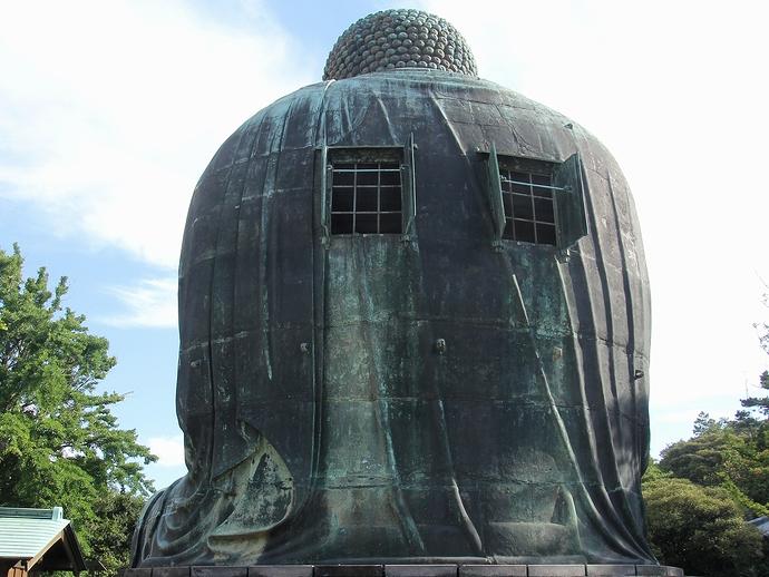 鎌倉大仏の背中側