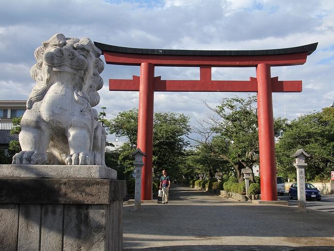 鎌倉の段葛 「二の鳥居」