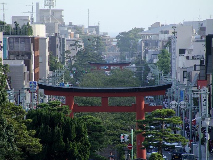 鶴岡八幡宮から見た鎌倉の街
