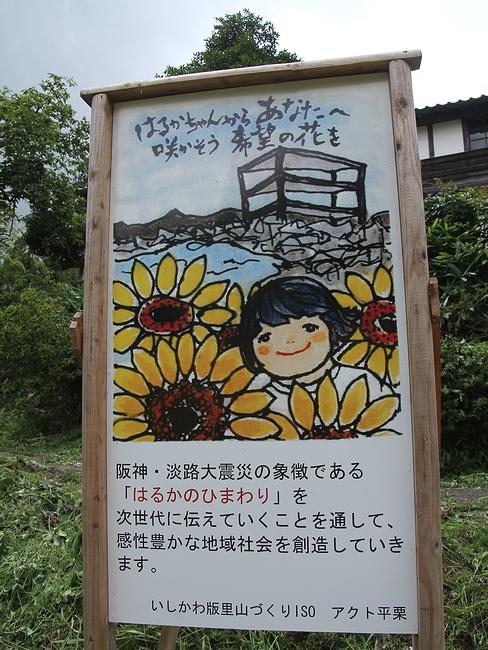 「はるかのひまわり」の看板(金沢市平栗地区にて)