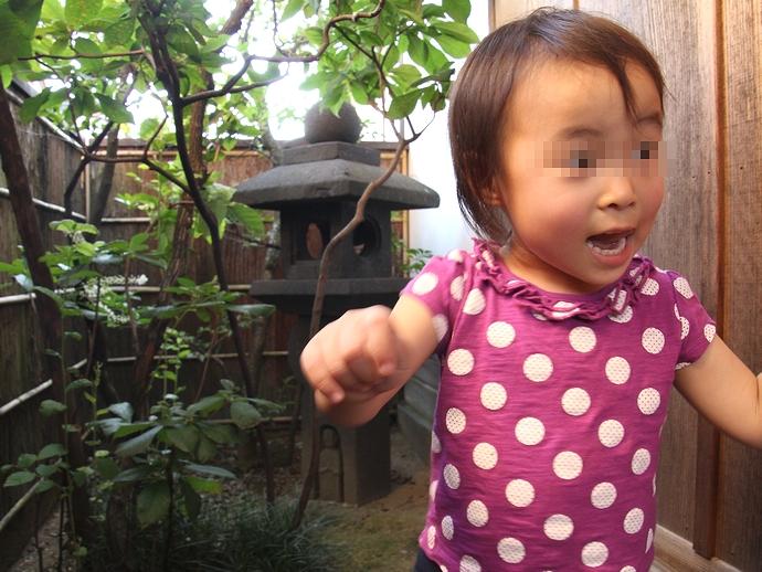 武家屋敷に興奮する娘(笑)