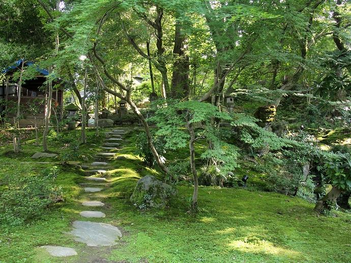 街中とは思えない静かな緑地 金沢市玉泉園