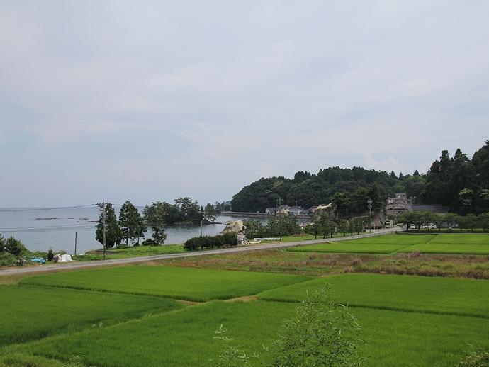 旧恋路駅から見た海岸風景(恋路海岸)