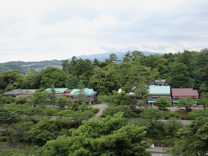 金沢城本丸から眺めた金沢市街(兼六園方面)