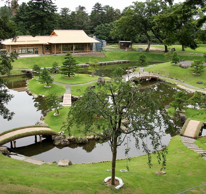 整備が進む金沢城玉泉院丸庭園