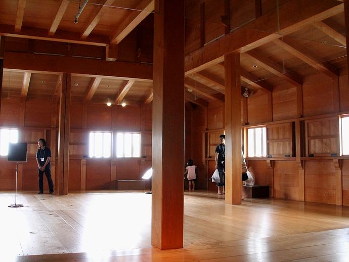 菱櫓内部の様子(金沢城)