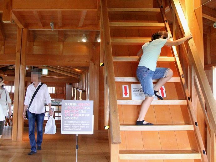 金沢城内部の復元階段