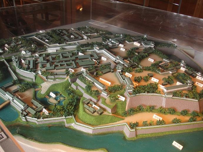 金沢城の模型