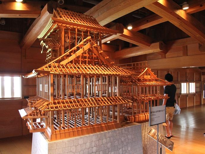 菱櫓の骨組み模型(金沢城)