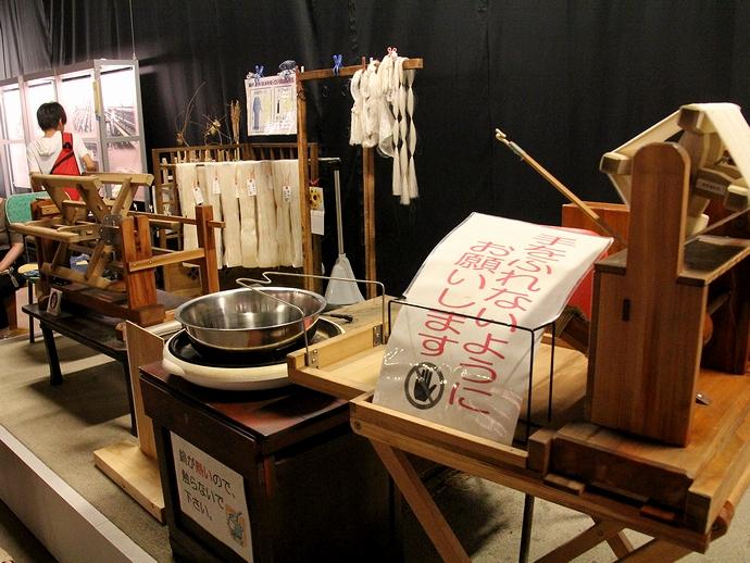 富岡製糸場の展示物の一部
