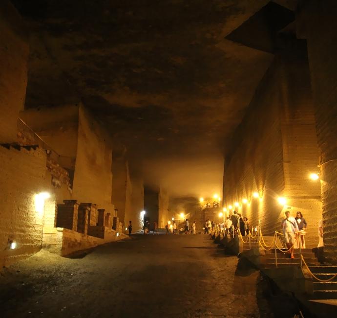 大谷資料館 大谷石地下採掘場跡の様子