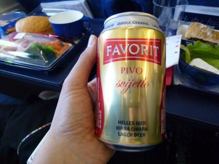 クロアチア機内ビール