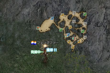 金塊掘り地図