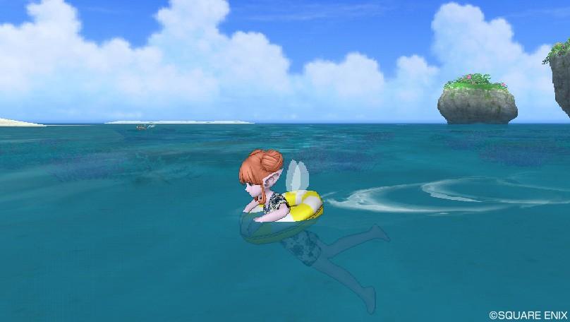 浮き輪でスイスイ2