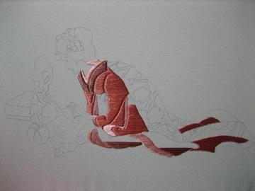 日本刺繍 竹久夢二 ひなの節句