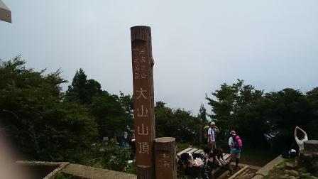 20140824大山⑩いきなり頂上
