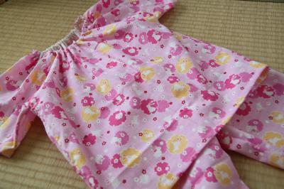 夏のスモックパジャマ120センチ