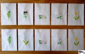 紙バッグSサイズ 花づくし春夏 サイン