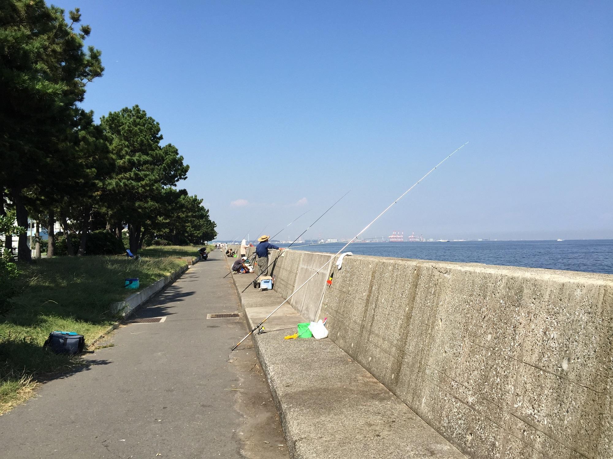 福浦岸壁北トイレ付近から北向き
