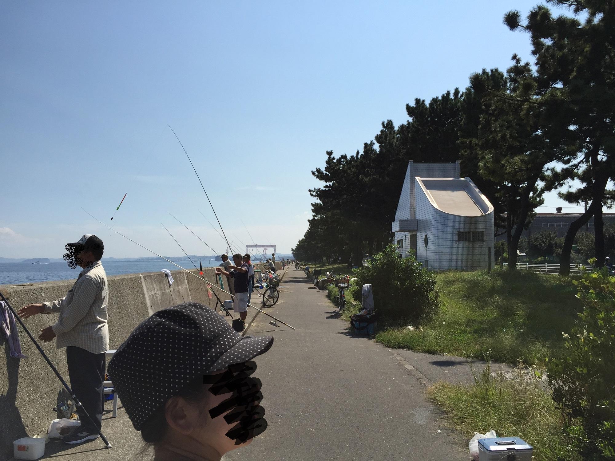 福浦岸壁北トイレ付近から南向き