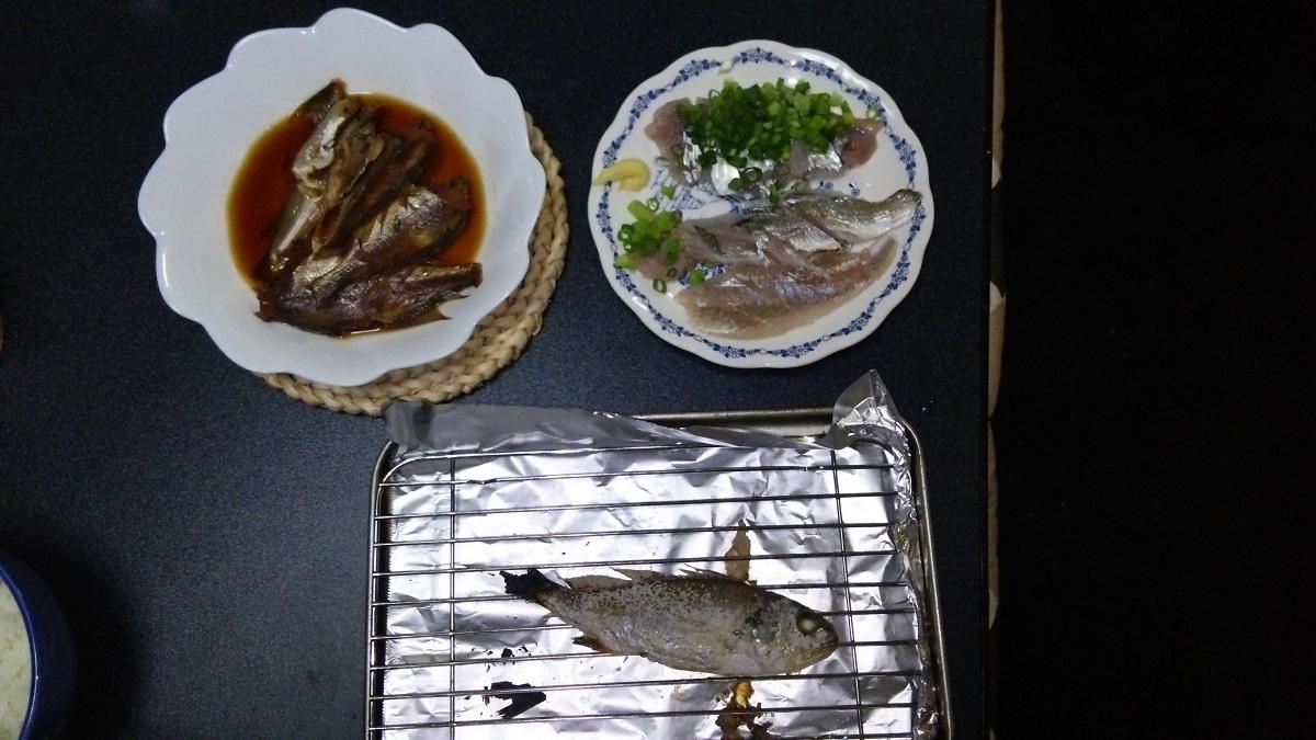 0824 ふれーゆ裏釣果の調理