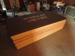 教室の工事 木材1