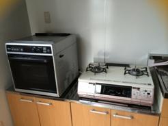 新しい教室ガスオーブン&コンロ