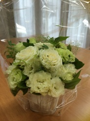 IさんとMさんからのお花