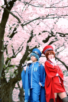 コスプレ画像 MEIKO KAITO ボカロ 千本桜 軍服 としまえん