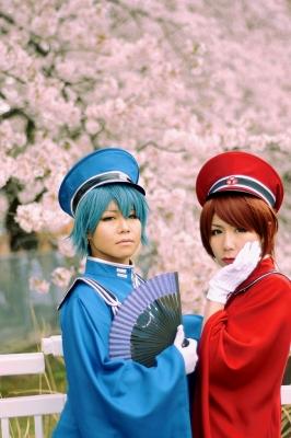 ボーカロイド、MEIKOとKAITOの千本桜のコスプレ画像。としまえんにて撮影。