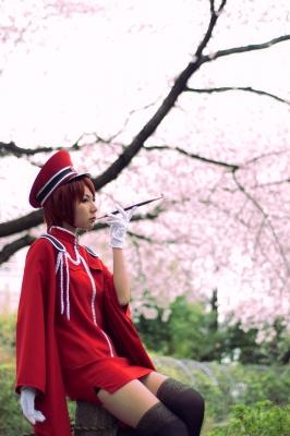 コスプレ画像。ボカロのMEIKOの千本桜の衣装。としまえんにて撮影してもらう。