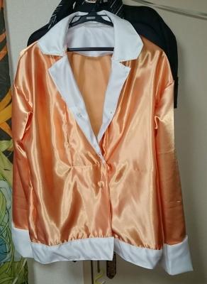 ブラック羽川のコスプレ衣装、パジャマの制作画像