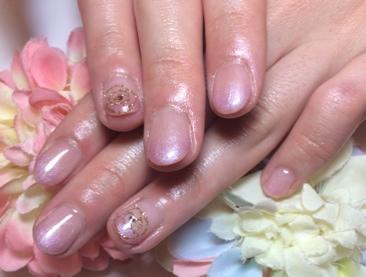 パープル ピンク カラー グラデーション 上品 バラ アート ネイル デザイン