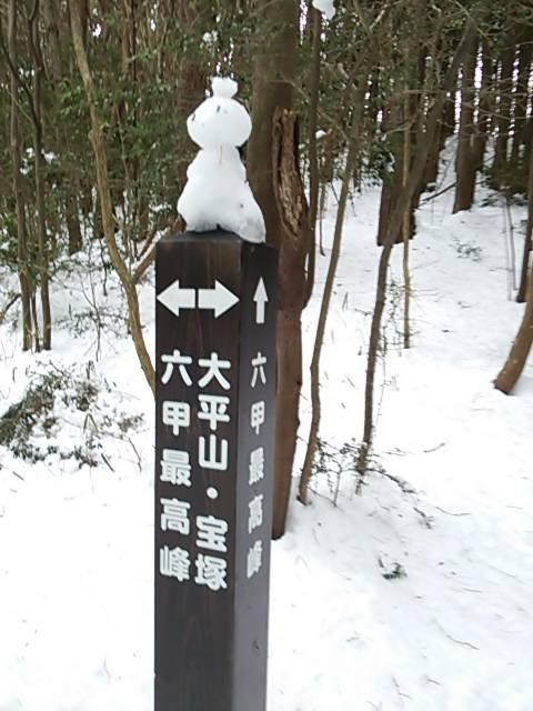 最高峰へ雪だるま