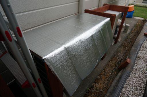 室外機 屋根 自作