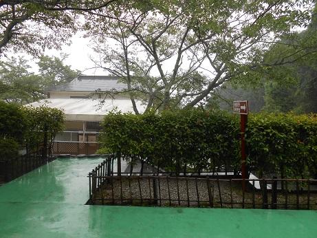 雨の日の霊園
