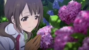 紫陽花と紗羽