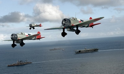 空母加賀と96艦戦