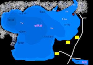 松原湖地図