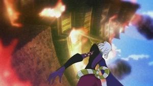 燃え上がる城の幻影