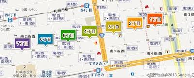 狸小路の地図