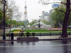 雨の大通公園