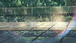 美しい雨の描写
